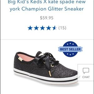 KEDS KATE SPADE little girl glitter sneakers sz 13